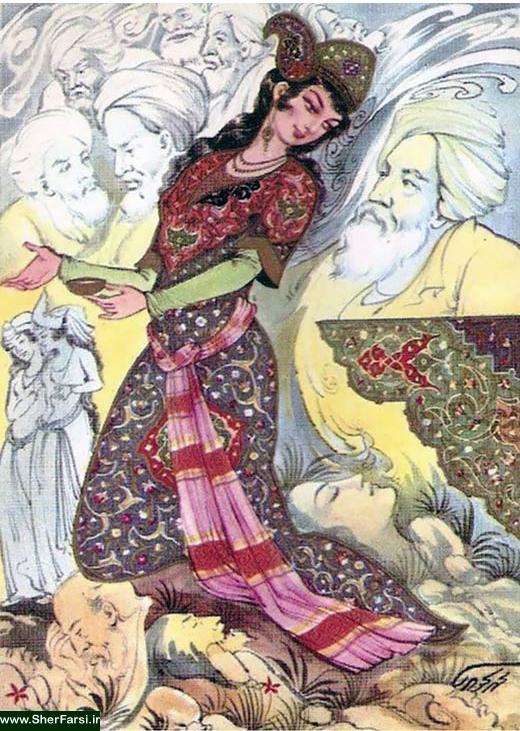 رباعیات حکیم عمر خیام نیشابوری - بخش چهارم : شعرهای با قافیه ر